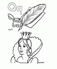 Small Picture Letter Q Coloring Pages Preschool High Quality Coloring Pages