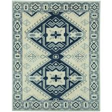 aldis hand knotted rug blue