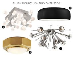 flush mount lighting fixtures over 500