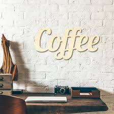 coffee wooden letters wall art com