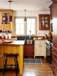colors of wood furniture. warm colors wood textures and reproduction antique furniture create folksy charm in this once of