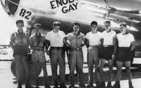 hiroshima and nagasaki the single greatest acts of terrorism in  the ground crew of the bomber enola gay photo getty