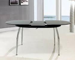 oval glass dining table. oval full black glass extending dining table with optional 4 faux leather chairs