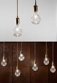 how stunning are these crystal bulb pendants from lee broom
