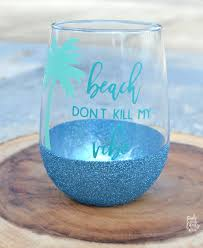 diy dishwasher safe glitter glasses tutorial step by step pictures personalized with adhesive vinyl
