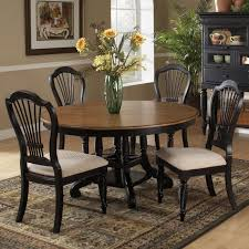 round table dining room furniture. wilshire wood roundoval dining table u0026 chairs in pine rubbed black by hillsdale round room furniture