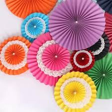 Buy Paper Flower Three Layers Of Paper Flower Fan Handmade Wedding Buy Home Decoration At Factory Price Club Factory