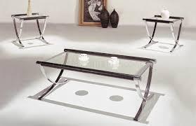 Set Of Glass Top Contemporary Coffee End Tables Wchrome Legs  75aee5e73775bd40d56ff12529e