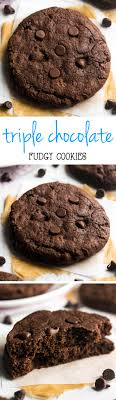 Chewy Chocolate Cookies Fudgy Triple Chocolate Cookies Amys Healthy Baking