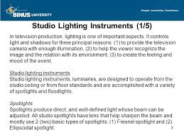 3 studio lighting instruments