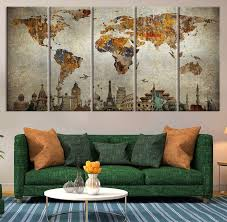 awesome wall art designs world framed wall art maps canvas united states in map wall art modern living amazing diy