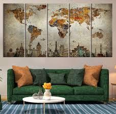 impressive world map wall art site image world map wall art home decor ideas for map wall art attractive