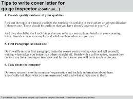 Quality Control Inspector Cover Letter Sample Tweetspie Awesome