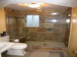 Bathroom, Natural Patterned Wall Tiles For Modern Shower That Also Applying  Glass Door: Tile
