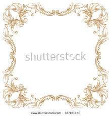 vintage frame design png. Premium Gold Vintage Baroque Frame Scroll Ornament Engraving Border Floral Retro Pattern Antique Style Acanthus Foliage Design Png E