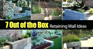retaining wall ideas retainer 7 slope small retain ideas to build a retaining garden wall slope