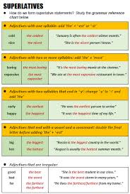Adjectives For Recommendation Letter Superlatives All Things Grammar