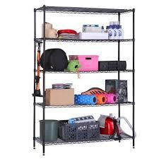 langria 5 tier heavy duty commercial metal wire shelving unit garage shelf in