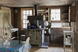 Cabin Kitchens Distressed Kitchens Espresso Kitchen Island Traditional Kitchen
