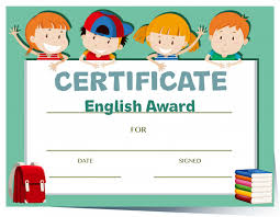 Certificate Template For Kids With Happy Vector Free Download