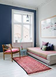 How To Decorate An Apartment Without Painting Extraordinary Vaulted Ceilings Navy Accent Wall Large Windows White Painted