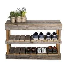 Wood closet shelving Cheap Del Hutson Designs Barnwood Shoe Rack Overstock Buy Wood Closet Organizers Systems Online At Overstockcom Our