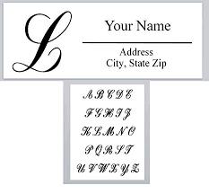 Monogram Return Address Labels Amazon Com 120 Personalized Return Address Labels Alphabet