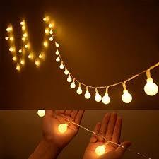 cool dorm lighting. [Upgrade Version] Ilyever 40 LED Globe Long String Lights White Color Battery Operated On 13ft/4m Led Ball Fairy Starry Light For Garden Party Tree Cool Dorm Lighting M