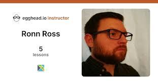 Learn web development from Ronn Ross on egghead   egghead.io