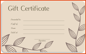 gift card template gift certificate template moa format