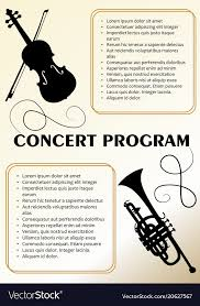 Concert Program Template With Violin And Trumpet