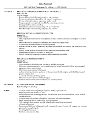 Retail Sales Representative Resume Samples Velvet Jobs