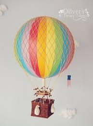 rainbow vintage hot air balloon large