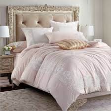delicate chenille cord embroidery duvet