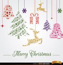 hanging christmas ornaments vector.  Vector Christmas Hanging Ornaments Background  Free Vector 164567 For Hanging Ornaments Vector A