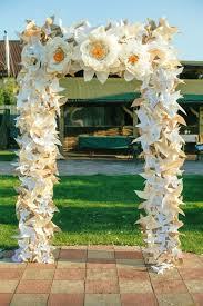 Paper Flower Archway Giant Paper Flowers Wedding Arch Wedding Tutorials Florist