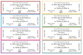Microsoft Word Ticket Templates Unique 48 Free Event Ticket Templates For Word Make Your Own Tickets