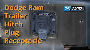how to install replace trailer hitch plug receptacle 1998 10 dodge 98 Dodge Ram 1500 Trailer Wiring how to install replace trailer hitch plug receptacle 1998 10 dodge ram buy auto parts at 1aauto com 1998 dodge ram 1500 trailer wiring diagram