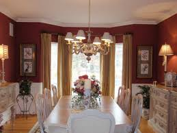 curtains for dining room white and maroon | Red Wall Curtain White Classic  Table Set Cabinet