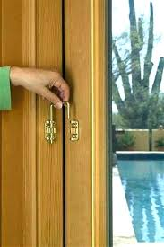 decoration patio door security sliding brilliant lock living room stylish open locked glass outside from how to doors