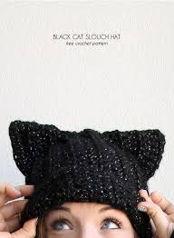 Cat Hat Crochet Pattern Beauteous Black Cat Slouch Hat Free Crochet Cat Hat Pattern Persia Lou