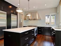 Kitchen Backsplash With Dark Cabinets Pure Granite Countertops Ideas