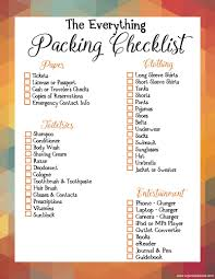 Travel Packing List Printables