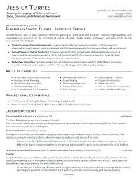 Teacher Skills For Resume Fascinating Early Childhood Education Resume Samples Resume Sample Education
