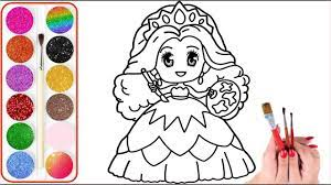 46+ Tranh tô màu công chúa chibi dễ thương nhất cho bé tập tô