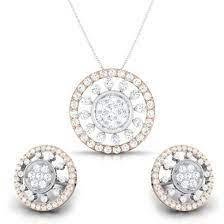 latest diamond pendant sets designs
