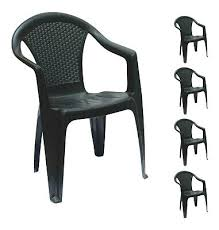 set of 4 rattan garden chairs stackable