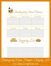 Free Printable Thanksgiving Menu Planner Free Printables
