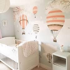 Sweet hot air balloon wallpaper  lapel de pared por encomenda aqua  www   Baby Girl Nursery ...