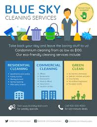 Advertising Flyers Samples Modern Cleaning Service Flyeremplate Venngage Flyersemplates
